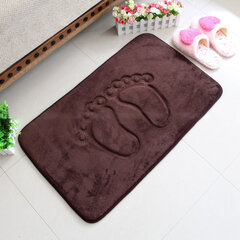 Embossed Memory Foam Carpet Feet Slip-resistant Waterproof Comfortable Absorbent Mats Doormat