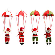 Christmas Tree Santa Claus Snowman Hanging Ornament Parachute Home Party Deocr