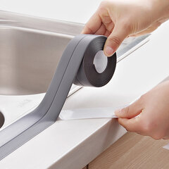 3.8mm Kitchen Bathroom Self Adhesive Wall Seal Ring Tape Waterproof Tape Proof Edge Trim Tape