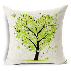 45x45cm شجرة ديكور والحقائب موسم الزنبق الحياة القطن والكتان مشرق وسادة ملونة