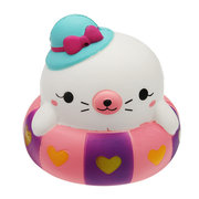 Swimming Circle Cat Squishy Slow Rising With Packaging Collection Gift Soft Toy