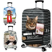 Honana 3D Spoof Cat Elastic Luggage Cover Travel Suitcase Protector
