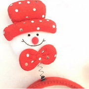 Natal Snowman Head Papai Noel Headband Hair Hoop Christmas Decorations