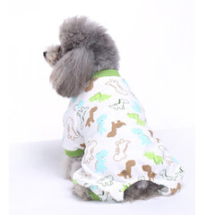 Pet Dog Soft Cloth Cotton Footprint Pajamas Puppy Jumpsuits Soft Clothing Clothes Dog Dress