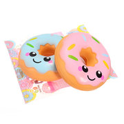 Kawaii Smiling Face Donuts Charm Bread Squishy  Kids Toys With Package
