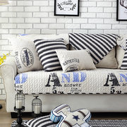 Nordic Thickened Magical Seat Cushion Corner Letter or Stripe Fabric Double Towel