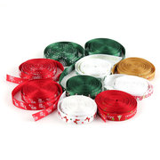 5 Yard 10mm Printed Merry Christmas Tree Grosgrain Ribbon DIY Craft