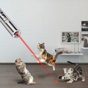 Juguete recargable del animal doméstico de Loskii PT-31 Juguete del laser del juguete del entrenamiento del gato con la linterna del LED