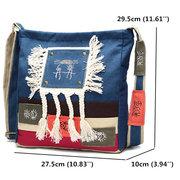 Sacos de ombro chineses da lona do estilo das mulheres Estilo nacional tribal sacos de Crossbody