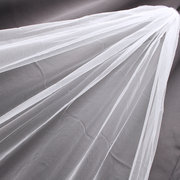 3M Bride White Ivory Elegant Cathedral Length Wedding Bridal Veil Comb With Lace Edge