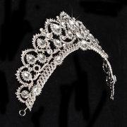 Braut Strass Kristall Prinzessin Königin Krone Tiara Kopf Schmuck Kopfschmuck Hochzeit Stirnband