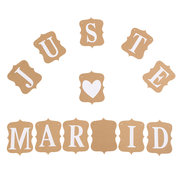 JUST MARRIED Bunting Wedding Banner Garland Party Photography Flags Decoration Photo Props Supplies