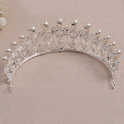 Bride Rhinestone Crystal Pearl Tiara Crown Princess Queen Wedding Bridal Party Prom Headpiece
