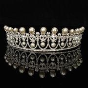 Noiva strass cristal pérola tiara coroa princesa rainha do casamento nupcial festa de baile de formatura
