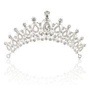 Невеста горный хрусталь хрустальная тиара наследная принцесса королева Свадебное свадебный головной убор выпускного вечера