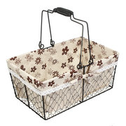 French Metal Wire Kitchen Fruit And Vegetable Storage Basket Indoor Storage Basket Toy Storage Baske