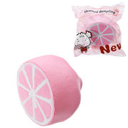 Half Shiny Pink Lemon Squishy Slow Rising With Packaging Collection Gift Soft Toy