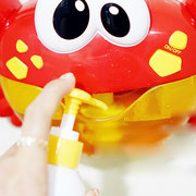 Big Crab Bubble Machine Tub Automatic Bubble Maker Blower 35 Música Canciones Toy Bubble Blower