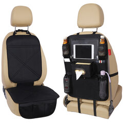 Silicone Car Seat Back Storage Bag Waterproof Seat Cover Multi-functional Cup Holder Organizer