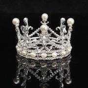 Strass Diamant Perle Couronne Tiare Tête Bijoux Princesse Reine Headpiece Accessoires De Mariage