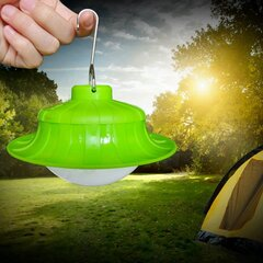 Portable 7W 17 LED Rechargeable Camping Tent Light with Hook for Outdoor