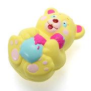 Xinda Squishy Erdbeer Bär Holding Honig Topf 12cm Langsam steigen mit Verpackung Sammlung Geschenk Spielzeug