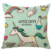 Honana 45x45cm Home Decoration Cartoon Unicorn Animal Square 12 Optional Patterns Pillow Case