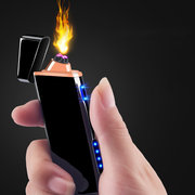 IPRee® Outdoor EDC Electronic USB Double Arc Lighter Windproof Metal Electric Pulsed Ignitor Starter