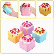 فلامبو اسفنجي جامبو كعكة الفراولة بطيئة ارتفاع الأصلي التغليف مكعب كعكة جمع لعبة هدية