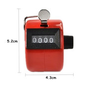 Handheld 4 Digital Tally Mechanisch Manueller Palm Clicker Number Frequency Counter Timer