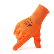 12 Pairs Orange PVC Heavy Duty Chemical Resistant Gauntlets Safety Work Gloves
