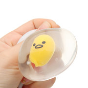 Yolk meulage oeuf transparent Squishy Stress Reliever Squeeze Stress Party Fun cadeau