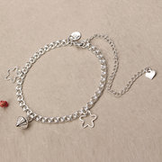 YUEYIN Women's Star Pendant Fashion Foot Chain Silver Plated Anklet Gift