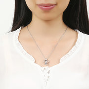 Retro Pearl Necklace Fashion Hollow Openable Turtle Can Open Pendant Women Jewelry