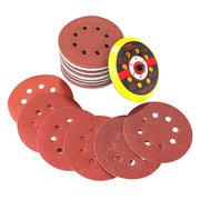 60шт 60-320 шлифовальный диск наждачной бумагой с подложкой для вращающегося инструмента
