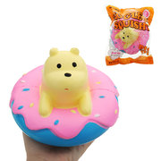 Donut Bear Squishy Slow Rising Toy Kawaii Jumbo 15cm Polar Bear Scented Doll