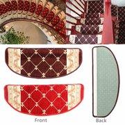 Tapete de Pastoral Pastoral de Estilo Europeu Escada de Escada Tapetes Anti-derrapantes Tapetes de Escada com Magia Paste