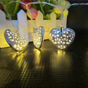 KCASA 2M 20 LED Metal Heart String Lights LED Fairy Lights for Festival Christmas Decoration