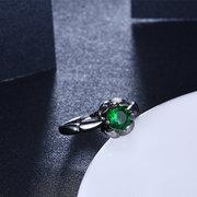Regalo all'ingrosso dell'anello di barretta dello Zircon lucido fiore elegante di INALIS per le donne