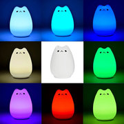 DecBest Silicone changeant de couleur LED Sensitive Tap Control Night Light Décor À La Maison