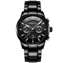 CRRJU Waterproof Calendar Mens Watches Fashion Stainless Steel Strap Quartz Watches