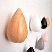 Honana HN-48 Kurze wassertropfenförmige Haken aus Holz dekorative Wand montiert Kleiderbügel Schlafzimmer