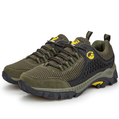 Big Size Men Hiking Shoes Mesh Cotton Blend Outdoor Trail Sneakers