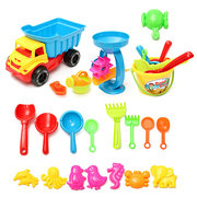21PCS Beach Sand Play Toys Set Bouche Rake Sand Wheel Watering Can Mold