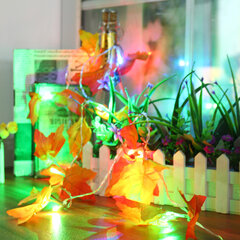 Battery Powered 1.65M 10LEDs Fall Leaves Shaped Indoor Fairy String Light For Christmas