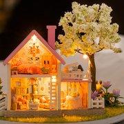 DIY Music Box Dolls House Handmade Miniature Kits Toy Gift
