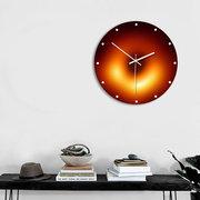 ثقب أسود سلسلة جدار الاكريليك ساعةحائط الكوارتز الصامتة إبرة كبيرة ووتش الحرف الديكور الحديثة