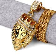 Goldkette mit Löwenkopf