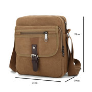 Men Small Outdoor Retro Casual Messenger Sport Crossbody Canvas Borsa