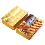 Gold Plastik beschichtet Spielkarten Poker Spiel USA National Flag Style Intelligenz Spiel